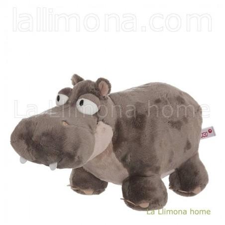 Nici hipopótamo Balduin de peluche. Medidas: 18 x 30 x 15 cms.