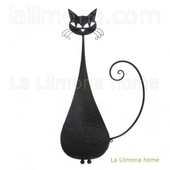 Gato negro metal pared 67