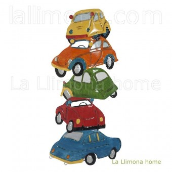 Coches colores metal pared 70
