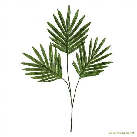 Rama artificial hojas palma. Alto: 60 cms.