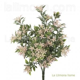 Planta artificial flores bush star rosa