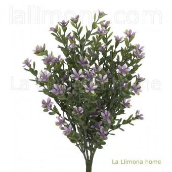 Planta artificial flores bush silvestre lavanda