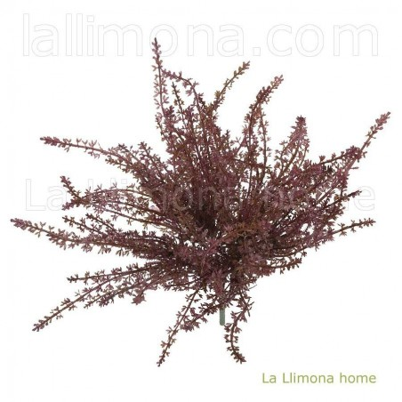 Planta artificial bush burdeos. Alto: 35 cms. Ancho: 24 - 27 cms.