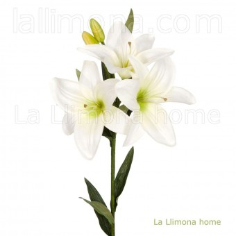 Flores artificiales lilium blanco 70