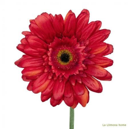 Flor artificial gerbera coral. Alto: 60 cms.