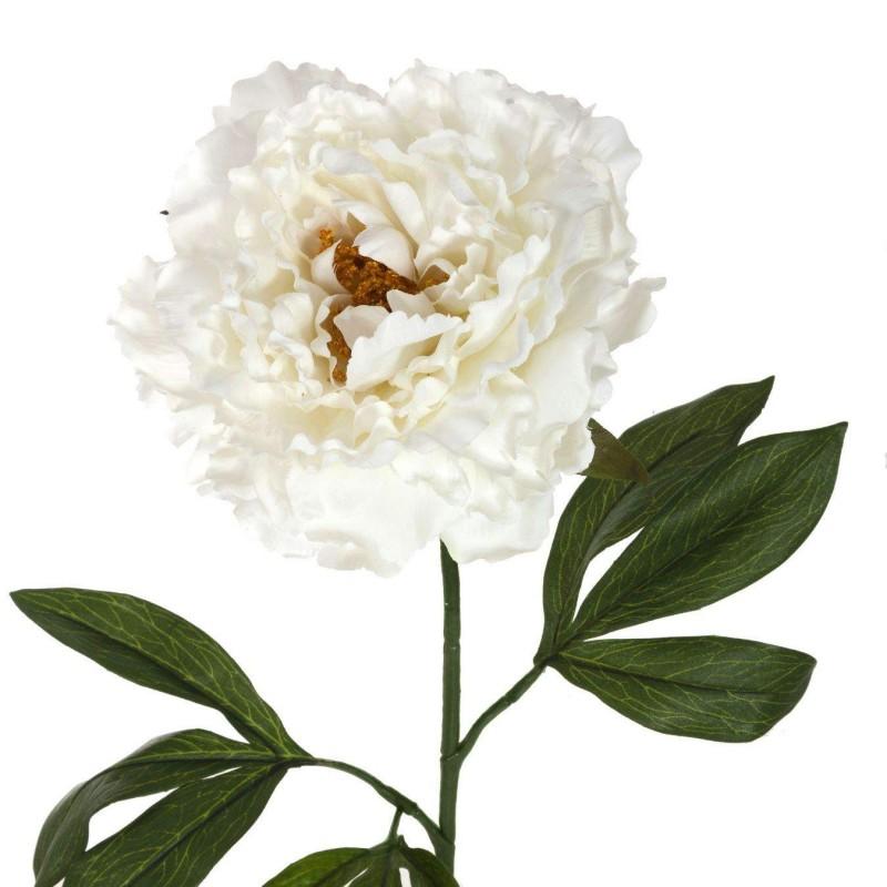 Flor artificial peonia blanca