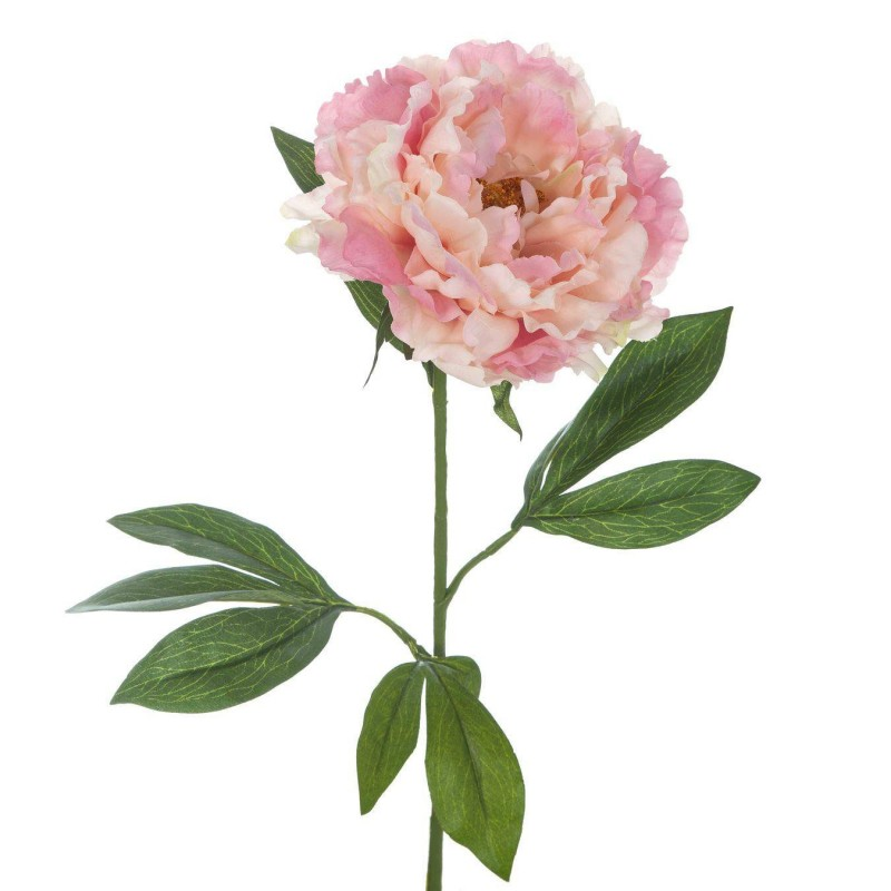 Flor artificial peonia rosa