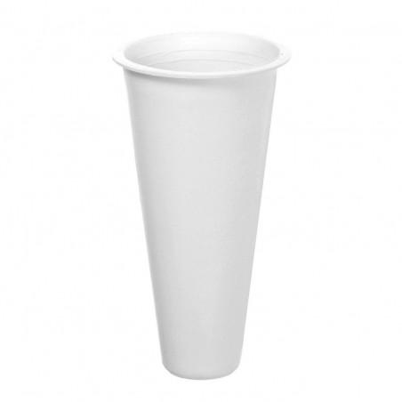 Cono para cementerios de plástico. Alto: 17 cms.Diámetro: 9 cms.