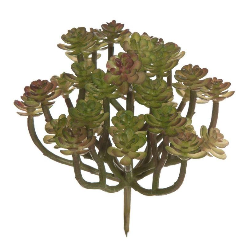 Planta artificial crasa mini echeveria tallos bicolor 14