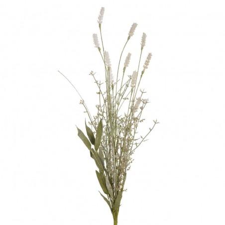 Rama silvestre con espliego o lavanda blanca artificial. Alto: 61 cms.Diámetro: 11 - 14 cms.
