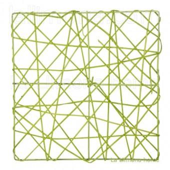 Estructura rejilla cuadrada verde 20