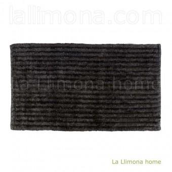 Alfombra baño stripes negra