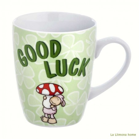Taza Nici 'Good luck'. Alto: 10 cms.