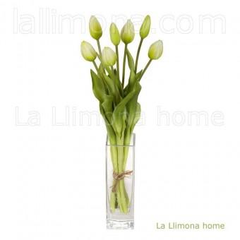 Ramo flores artificiales atado tulipanes verde 43