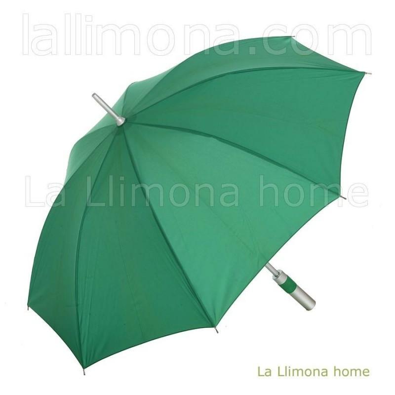 Paraguas hombre. Paraguas hombre mango aluminio manual verde