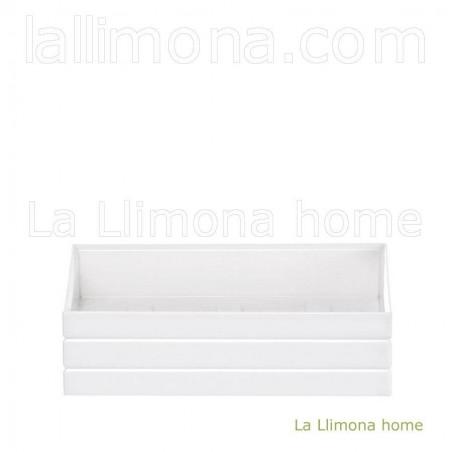 Jabonera de baño cercles blanca. Largo: 12.50 cms. Ancho: 8.50 cms.