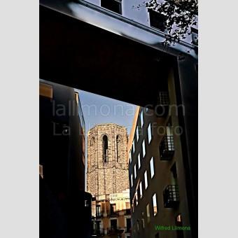 Campanario Santa Maria del Pi F00067-2 Wifred Llimona · Fotos artísticas paisajes urbanos