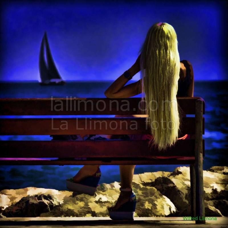 Eslito vida mirando la mar F00074-2 · Autor: Wifred Llimona · Fotografías artísticas estilo de vida · La Llimona foto