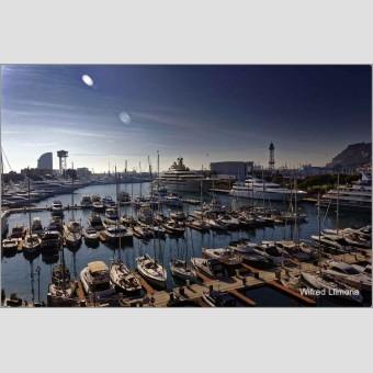 Puerto de Barcelona F00708 Wifred Llimona · Fotografías artísticas paisajes urbanos