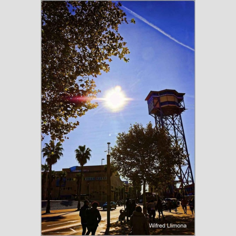 Torre teleférico Barcelona F00710 Wifred Llimona · Fotos artísticas paisajes urbanos