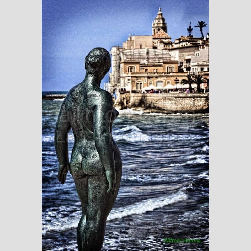 Sitges y el mar F00148-2 · Autor: Wifred Llimona · Fotografías artísticas paisajes urbanos · La Llimona foto
