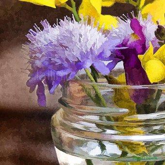 Jarron cristal flores F00162 · Autor: Wifred Llimona · Fotografías artísticas flora · La Llimona foto