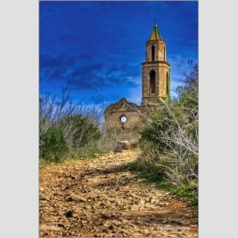 Iglesia Marmellar F00811 Wifred Llimona · Fotografías artísticas paisajes urbanos · La Llimona foto
