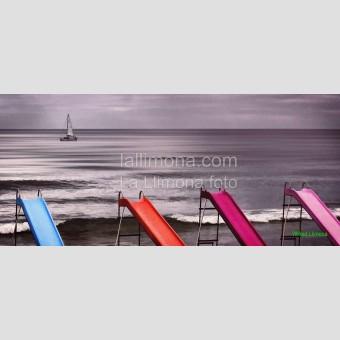 Toboganes playa F00221 · Autor: Wifred Llimona · Fotografías artísticas espacios · La Llimona foto