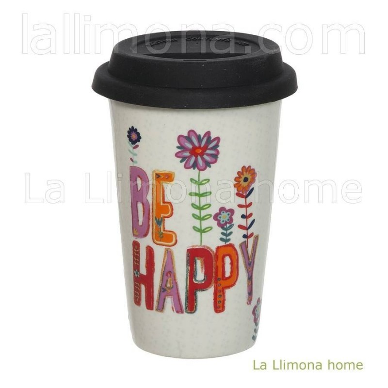 Natural Life taza térmica 'Be happy'