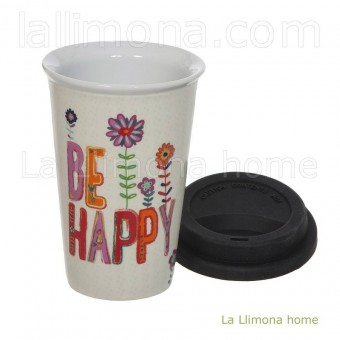 Natural Life taza térmica 'Be happy' · Natural Life · La Llimona home