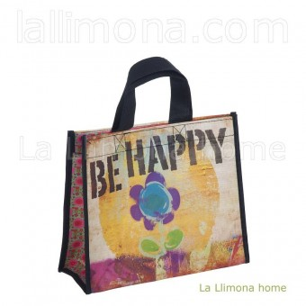 Natural Life bolsa compras mediana 'Be happy' reutilizable · Natural Life · La Llimona home
