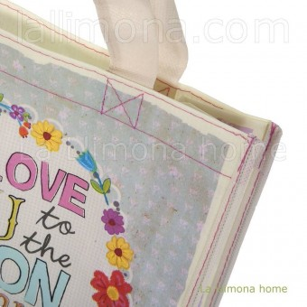 Natural Life bolsa compras mediana 'I love you to the moon' reutilizable · Natural Life 2