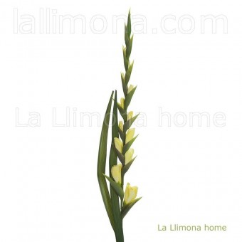 Flor gladiolo artificial amarillo · Flores artificiales · La Llimona home