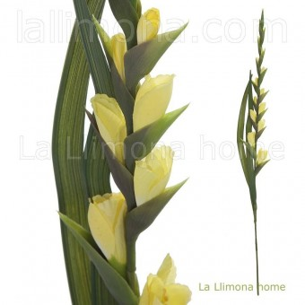 Flor gladiolo artificial amarillo · Flores artificiales 2 · La Llimona home