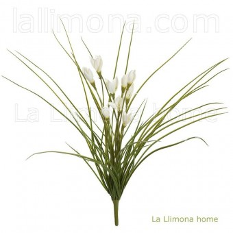Planta artificial bush crocus blanca · Plantas artificiales con flores