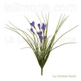 Planta artificial bush crocus lavanda · Plantas artificiales con flores