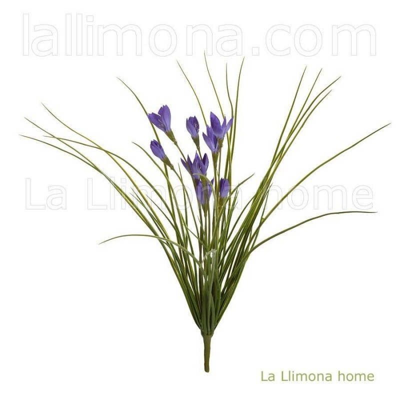 Planta bush artificial crocus lavanda · Plantas artificiales con flores