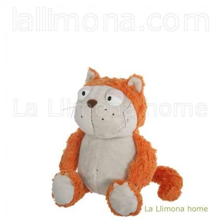 Nici gato Hungry naranja de peluche. Medidas sentado: 18 x 16 x 12 cms.