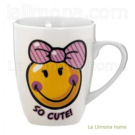Taza Nici 'So cute'. Alto: 10 cms. Diámetro: 8 cms.