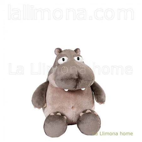 Nici hipopótamo Balduin de peluche sentado. Medidas: 25 x 18 x 19 cms.