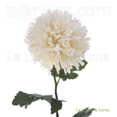 Flor dendrathema artificial beige. Alto: 73 cms. Diámetro flor: 15 cms.