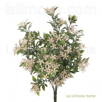 Planta artificial flores bush star rosa · Plantas artificiales con flores