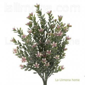 Planta bush artificial silvestre rosa