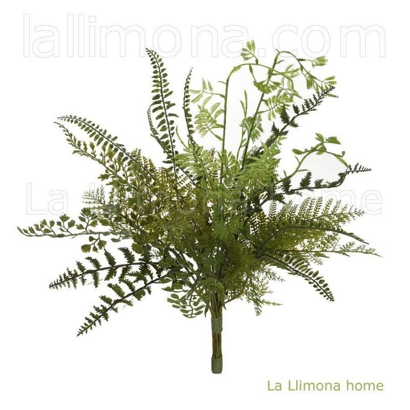 Planta bush artificial helechos · Plantas artificiales