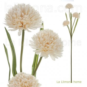Rama allium artificial vainilla 3 flores · Flores artificiales 2