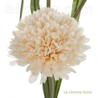Rama allium artificial vainilla 3 flores · Flores artificiales 3