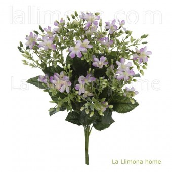 Ramo bush artificial mini violeta · Ramos flores artificiales