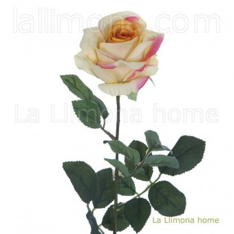 Flor rosa diana artificial bicolor · Flores artificiales · La Llimona home