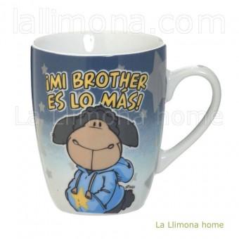 Taza Nici 'mi brother es lo más' · Nici tazas con mensaje