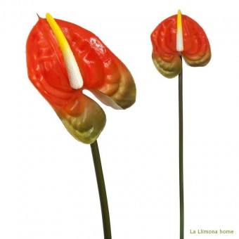 Flor anthurium artificial naranja 40 · Flores artificiales · La Llimona home